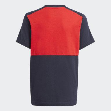 T-shirt adidas Essentials Colorblock Rosso Ragazzo Sportswear