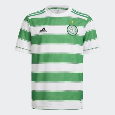 Maillot Domicile Celtic FC 21/22 Blanc Enfants Football