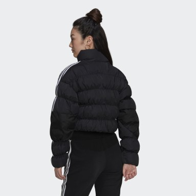 Frauen Originals Short Synthetic Down Puffer Jacke Schwarz