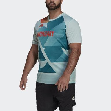 Camiseta Team Hungary HEAT.RDY Verde Hombre Gimnasio Y Entrenamiento