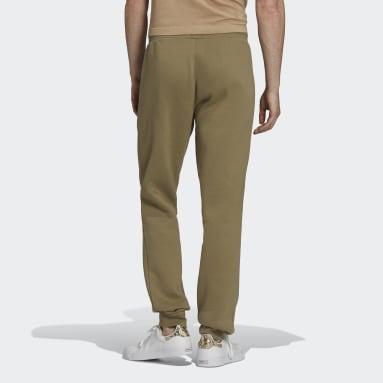 Muži Originals zelená Kalhoty Adicolor Essentials Trefoil