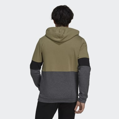 Essentials Fleece Colorblock Genser Grønn