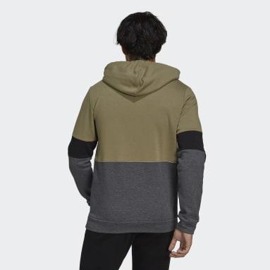 Sudadera Essentials Fleece Colorblock Verde Hombre Sportswear