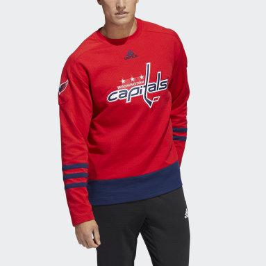 Men's Hockey Red Capitals Crew Sweater