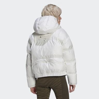 Kvinder adidas by Stella McCartney Hvid adidas by Stella McCartney Short Puffer jakke