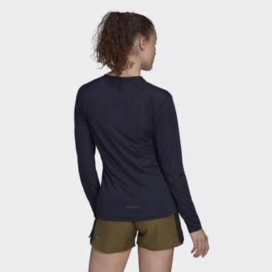 Dames TERREX blauw Terrex Primeblue Trail T-shirt