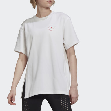 Women adidas by Stella McCartney White adidas by Stella McCartney Cotton Tee