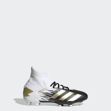 Children Soccer White Predator Mutator 20.3 Firm Ground Cleats