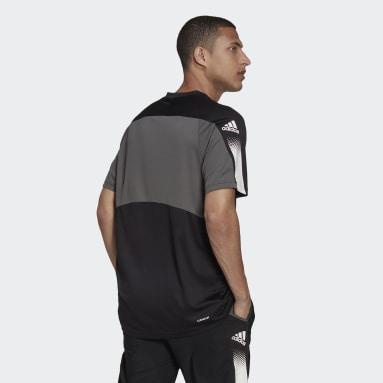 ผู้ชาย เทรนนิง สีดำ เสื้อยืด AEROREADY Designed to Move Sport