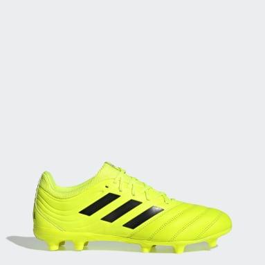 Calzado de Fútbol Copa 19.3 Terreno Firme Amarillo Hombre Fútbol
