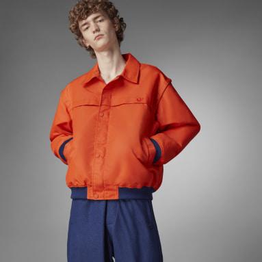 Herr Originals Orange Blue Version Varsity Bomber Jacket