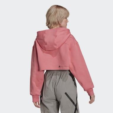 Sudadera Corta con Gorro SC adidas by Stella McCartney Cierre Frontal Rosa Mujer adidas by Stella McCartney