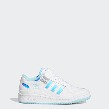 Kids Originals White Forum Iridescent Shoes