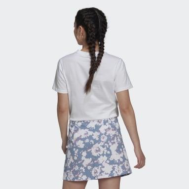 ผู้หญิง Originals สีขาว เสื้อยืด