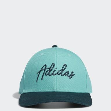 Men Golf Green adidas Script Curved Snapback Hat