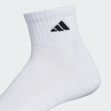 Men's Basketball White Athletic Cushioned Quarter Socks 6 Pairs