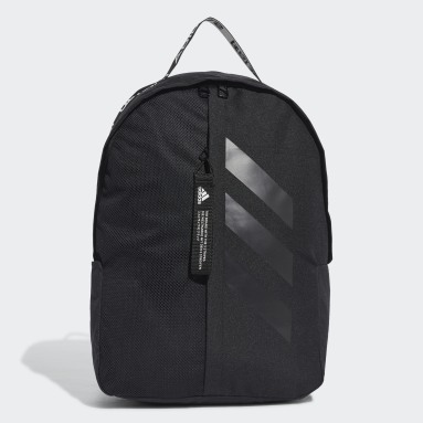 Volleyball Black Classic 3-Stripes at Side Backpack