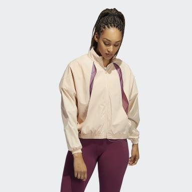 Women Running Pink Coldweather AEROREADY Training Jacket