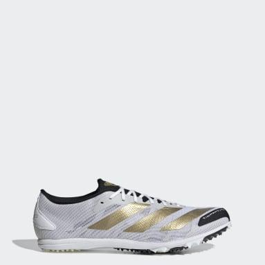 Leichtathletik Adizero XCS TME Spike-Schuh Weiß