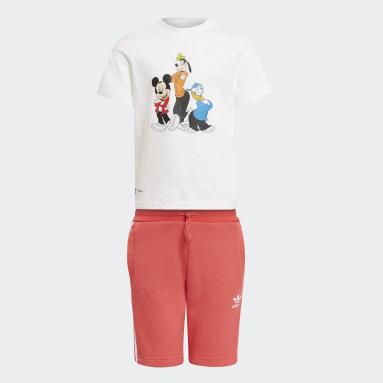 Children Originals White Disney Mickey and Friends Shorts and Tee Set