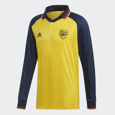 Men Football Yellow Arsenal Icon Long-Sleeve Top