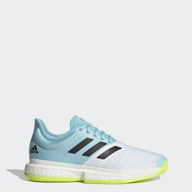 Men Tennis White SoleCourt Primeblue Tennis Shoes
