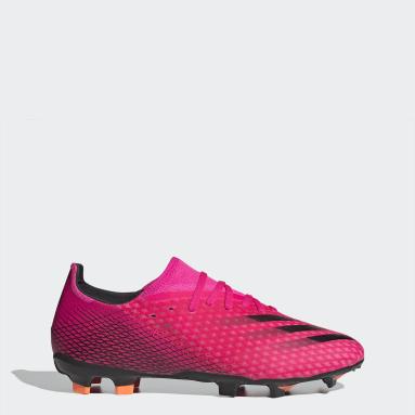 Bota de fútbol X Ghosted.3 césped natural seco Rosa Fútbol