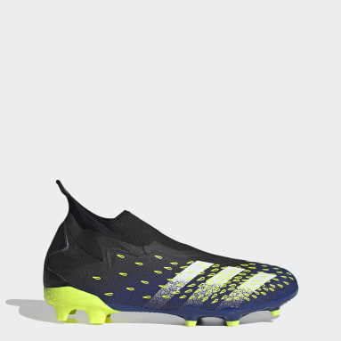 Football Black Predator Freak.3 Laceless Firm Ground Boots