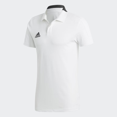 Playera polo Condivo 18 Cotton Blanco Hombre Fútbol