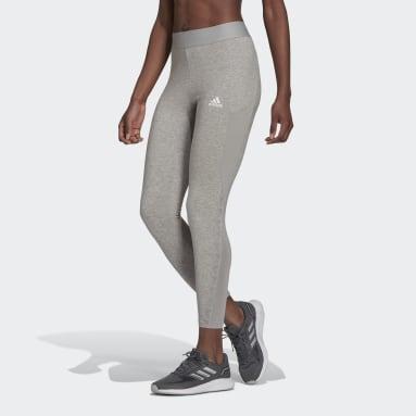 ผู้หญิง เทรนนิง สีเทา กางเกงรัดรูปเจ็ดส่วน AEROREADY Designed 2 Move Cotton Touch