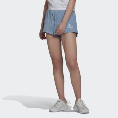 Pantalón corto Triple Trefoil Azul Mujer Originals