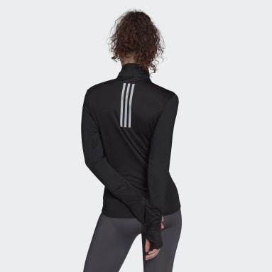 T-shirt adidas Own The Run 1/2 Zip Noir Femmes Running