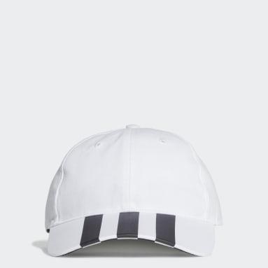 Lifestyle White 3-Stripes Baseball Cap