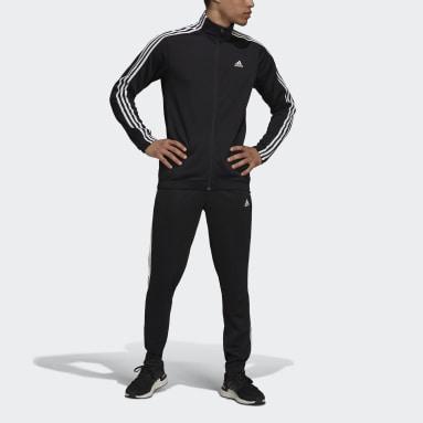 Men Sportswear Black adidas Sportswear Tapered Track Suit