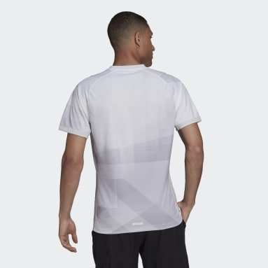 Heren Tennis Wit Freelift Tokyo HEAT.RDY Tennis T-shirt