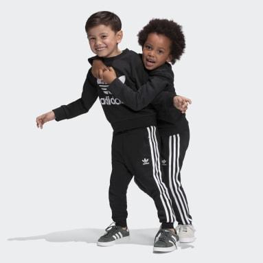 Kids Originals Black Crew Sweatshirt Set