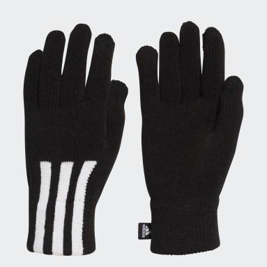 Sportswear 3-Streifen Conductive Handschuhe Schwarz