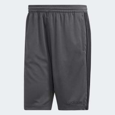 ผู้ชาย เทรนนิง สีเทา กางเกงขาสั้น Design 2 Move 3-Stripes