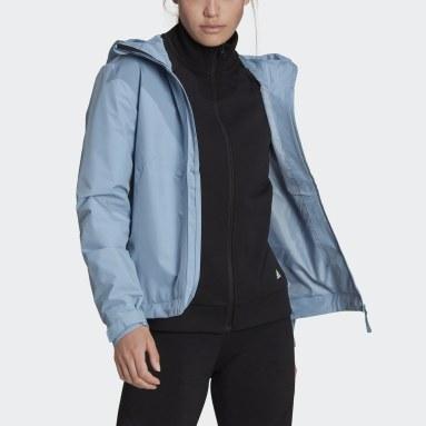 Kvinder Overtøj Med Gadestil Blå GORE-TEX Paclite 2L Rain Hooded jakke