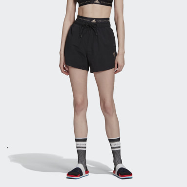 Dames adidas by Stella McCartney Zwart adidas by Stella McCartney Sportswear Geweven Short