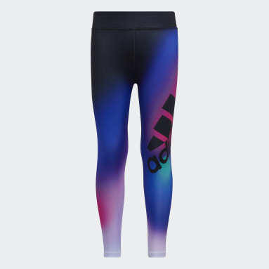Youth Yoga Black Ombré Graphic Tights