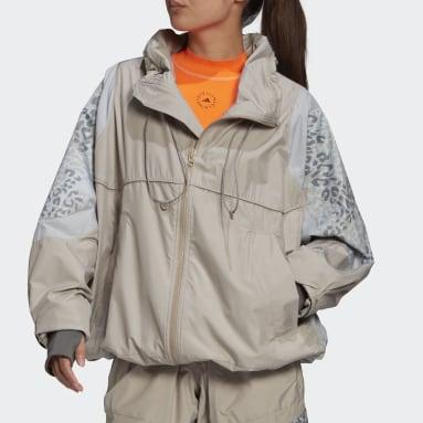 Women adidas by Stella McCartney Brown adidas by Stella McCartney Training Suit Panelled Jacket