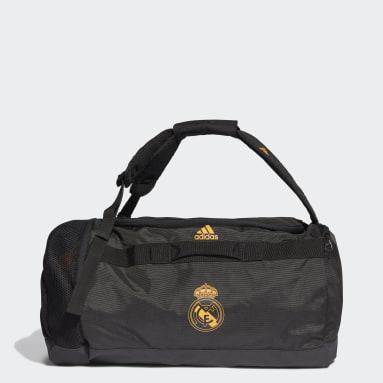 Bolsa de deporte mediana Real Madrid Negro Fútbol