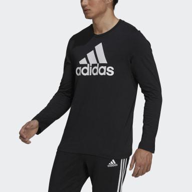 Men Sport Inspired Black Essentials Long Sleeve Tee