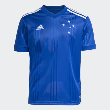 Camisa Cruzeiro 1 Azul Meninos Futebol