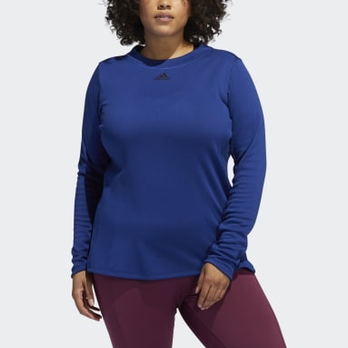 Women's Training Blue COLD.RDY Long Sleeve Training Tee (Plus Size)