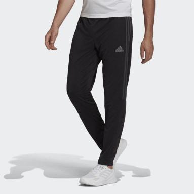 Men Soccer Black AEROREADY Sereno Slim Tapered-Cut 3-Stripes Pants