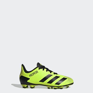 Boys Football Green Predator Mutator 20.4 Flexible Ground Boots
