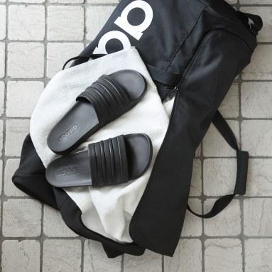 Erkek Yüzme Siyah adilette Cloudfoam Plus Mono Terlik