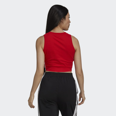 Women Originals Red Adicolor Classics Cropped Tank Top